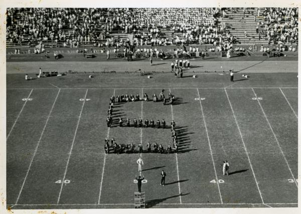 Marching Band performing during football game