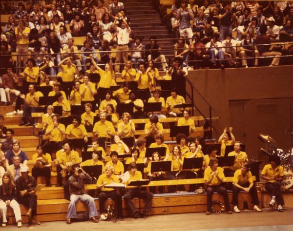 UCLA Band enjoying basketball game