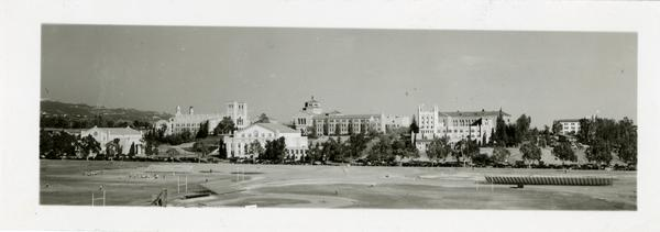 Panoramic picture of UCLA campus