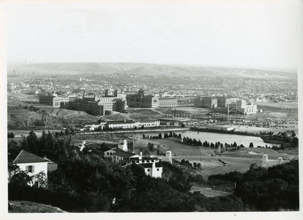 View of the UCLA campus from distance, ca. 1932