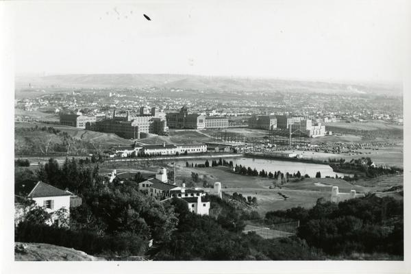 View of the Westwood campus and surrounding area from Bel Air