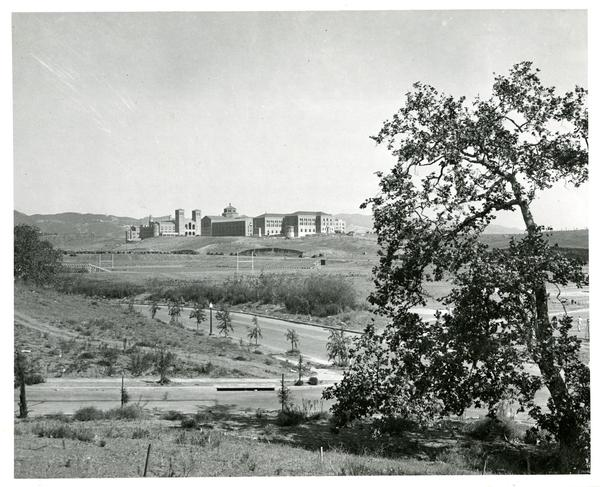 Looking Northeast towards Westwood Campus and surrounding area, 1930