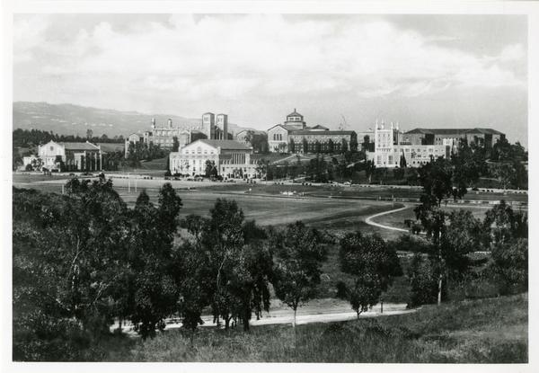 Looking West towards Westwood campus, 1943