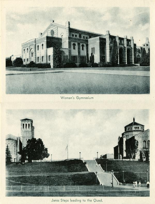 Women's Gymnasium, Janns Steps leading to Royce Hall and Powell Library