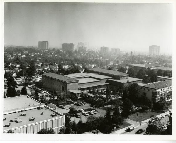 View of Law School Building and Dodd Hall, 1967