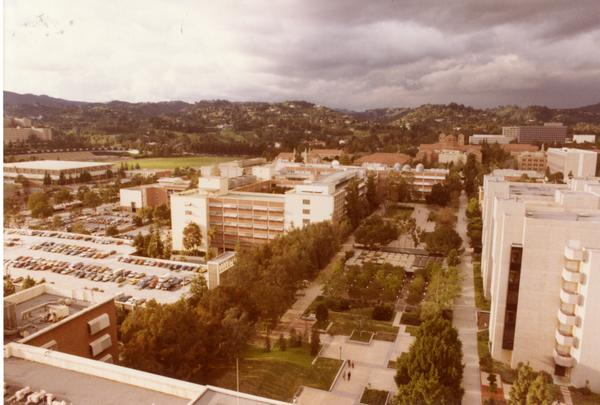 View of the Court of Sciences and parking lot