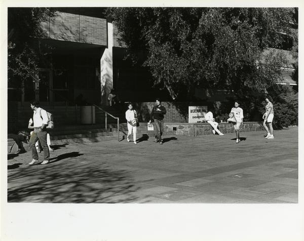 Students walking in front of Boelter Hall