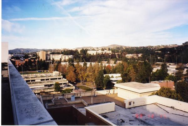 Looking northwest from the roof of the Engineering IV Building, December 17, 2003