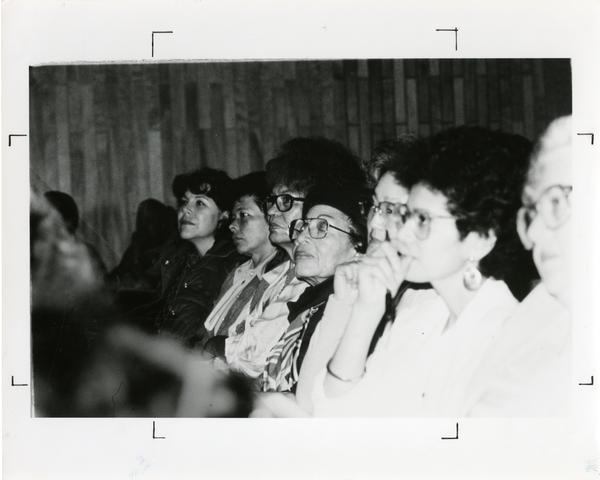 Audience members at the Dark Madonna Conference, 1985