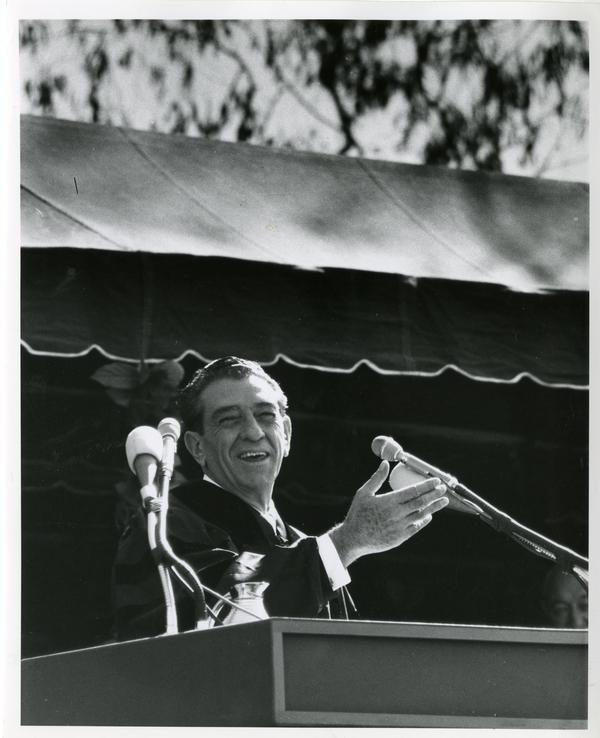 President Adolfo Lopes Mateos speaking on Charter Day 1964