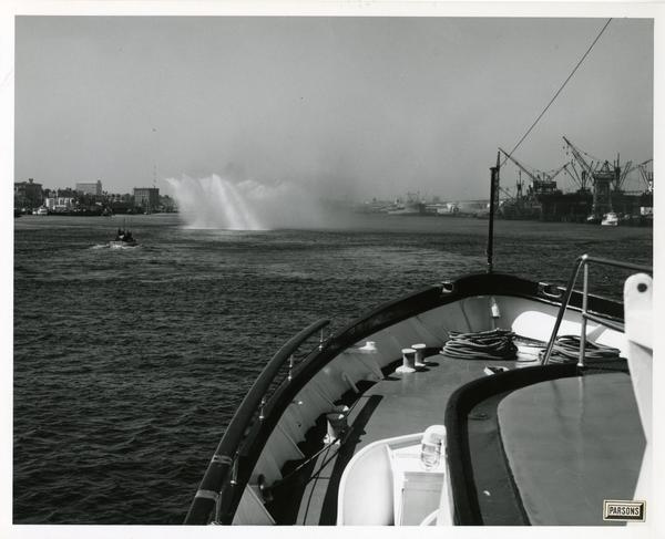 View of the water from Motor Yacht Argo, April 25, 1967