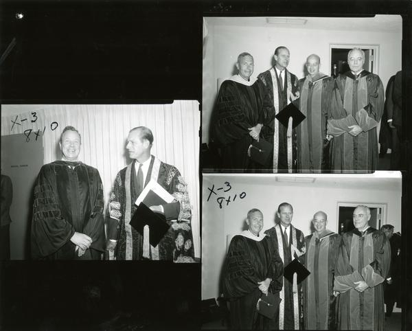 Contact sheet of Prince Philip standing with others on Charter Day, March 14, 1966