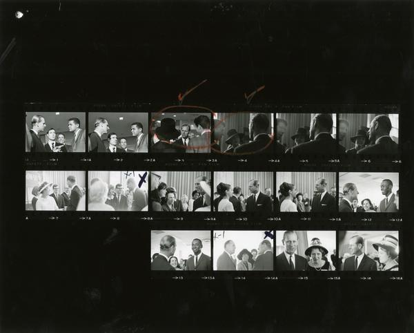 Contact sheet of Prince Philip on Charter Day