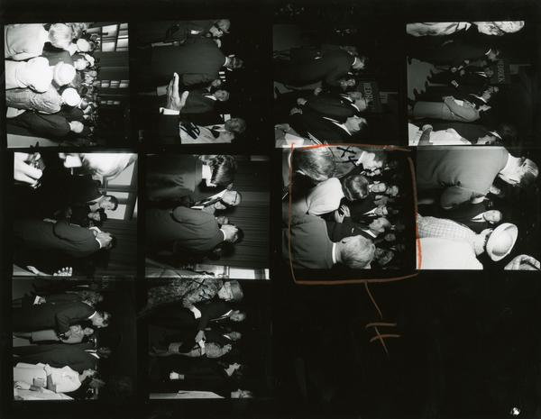 Contact sheet of Prince Philip on Charter Day, March 14, 1966