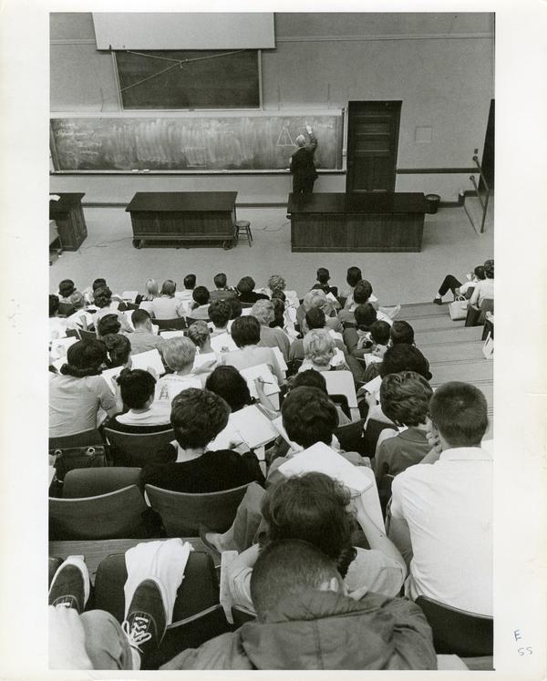 Classroom scene, circa 1960