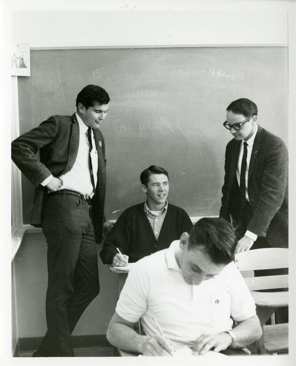 Students in classroom, circa 1965