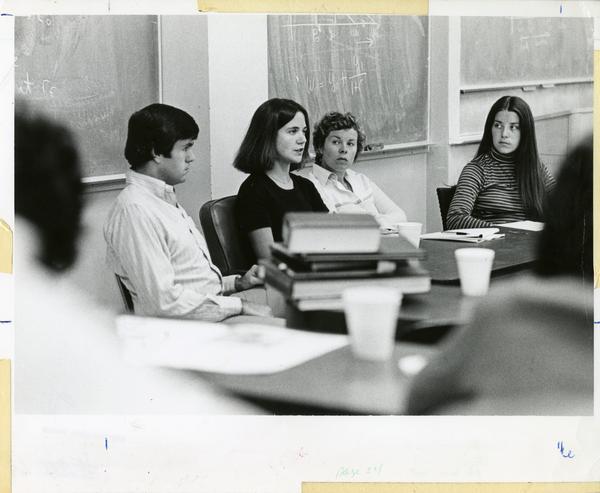 Classroom scene, circa 1980's
