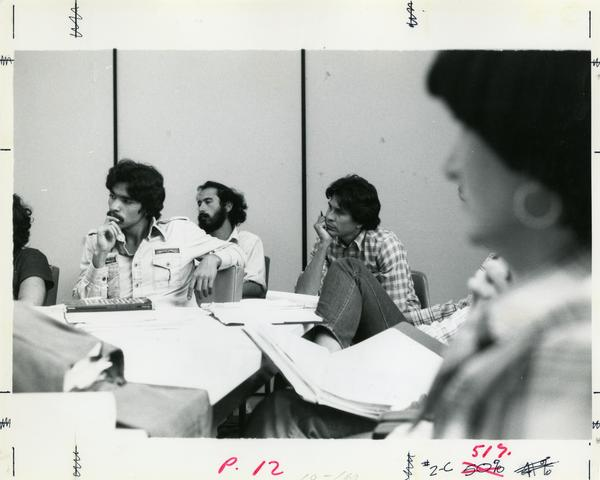 Students in classroom, circa 1980's