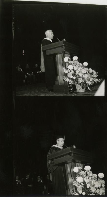 Contact prints of speakers at Mid-Year Commencement, January 28, 1964