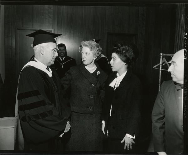 Contact prints of unidentified group at Mid-Year Commencement, January 28, 1964