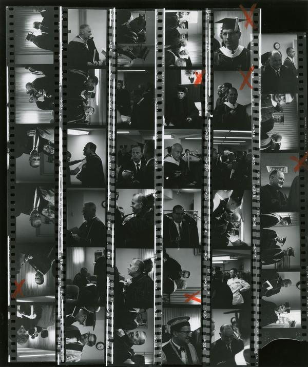 Contact sheet of Commencement, June 9, 1966