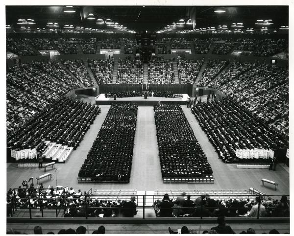 View of Pauley Pavilion at Commencement, June 1967