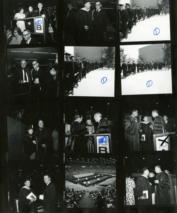 Contact sheet of Commencement, 1968