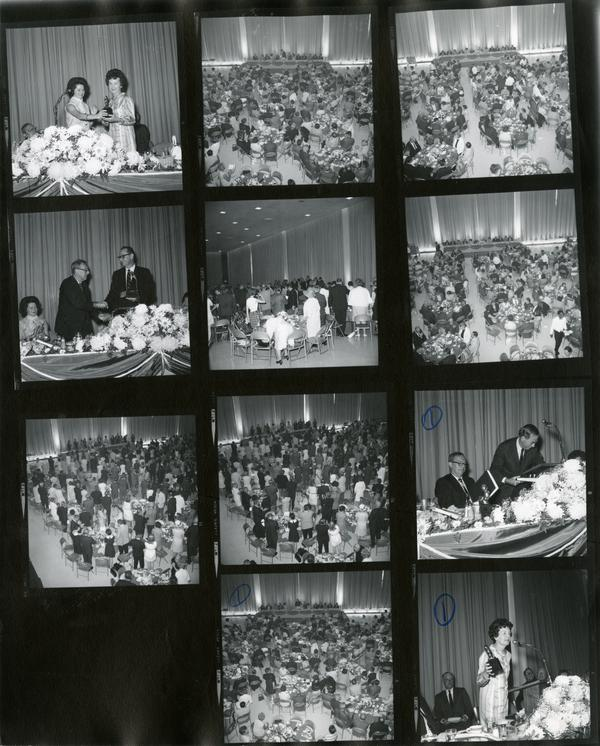Contact sheet of Commencement, June 14, 1968