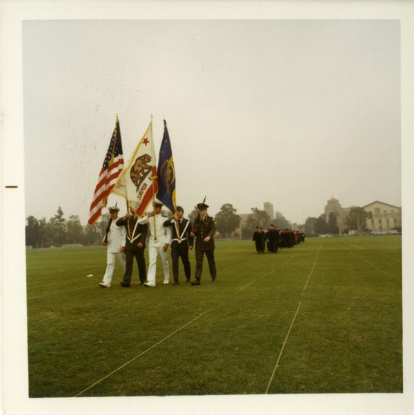 ROTC presenting arms at Commencement, June 17, 1970