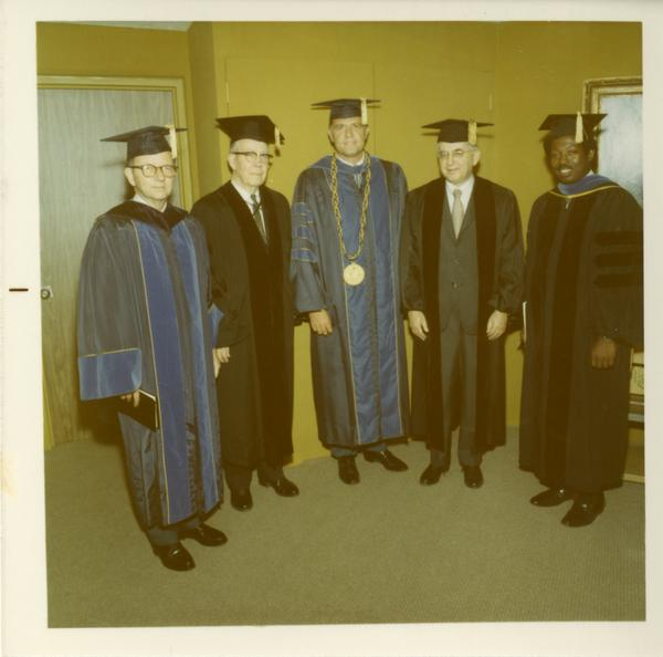 Unidentified men in robes posed for a picture, June 17, 1970