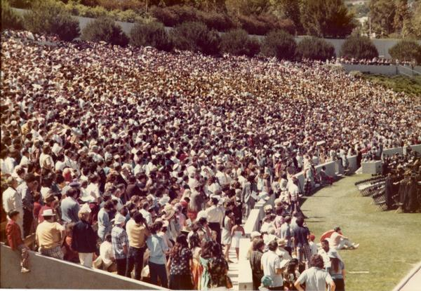 Crowds at commencement, 1974