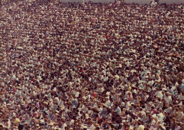 Crowds at commencement, 1975