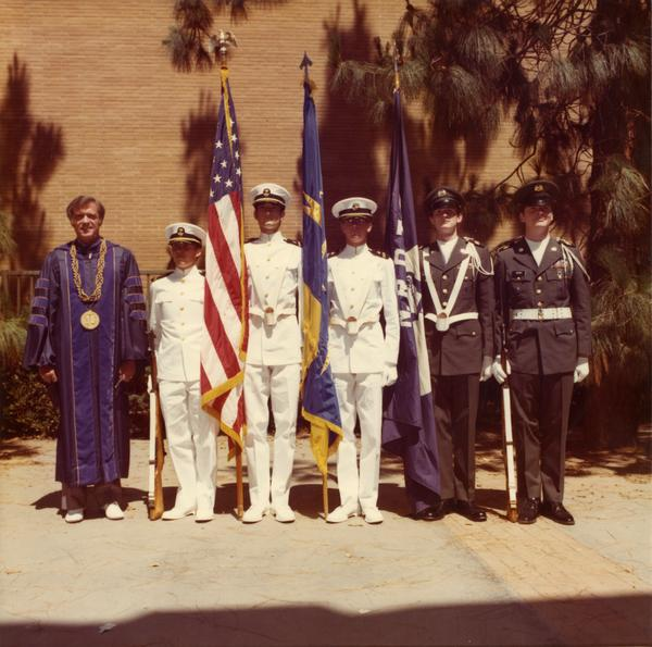 Color Guard with Chancellor Charles E. Young
