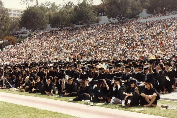 Graduates at commencement, ca. 1980's