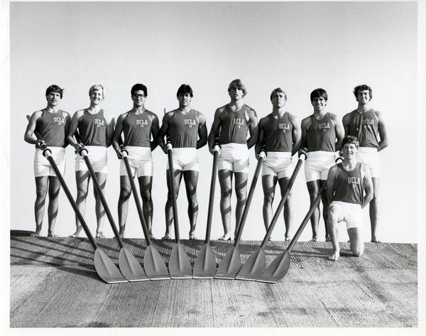Members of the Freshman Crew team, 1983