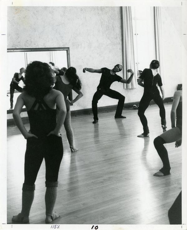 Members of the Dance Department practicing