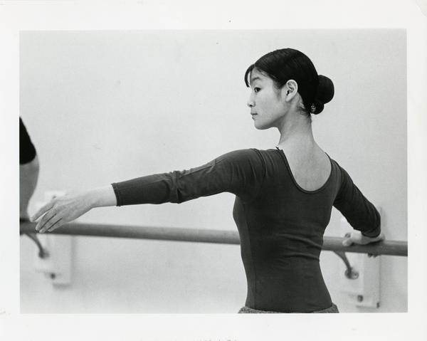 Woman of the Dance Department practicing