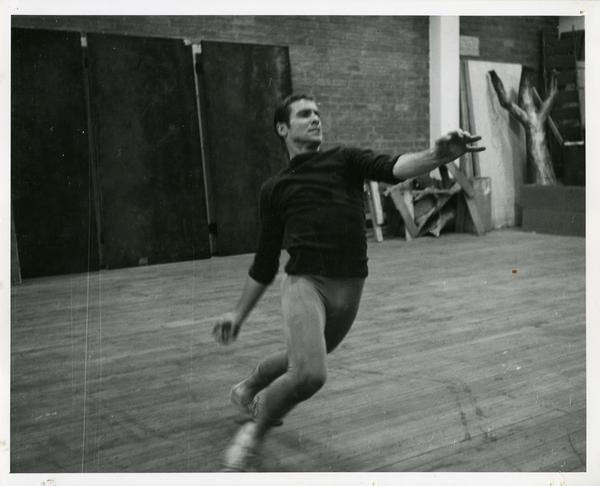Jerry Jackson performing Theseus' solo in rehearsal, 1959