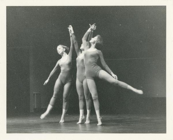 Dancers in a theatrical performance