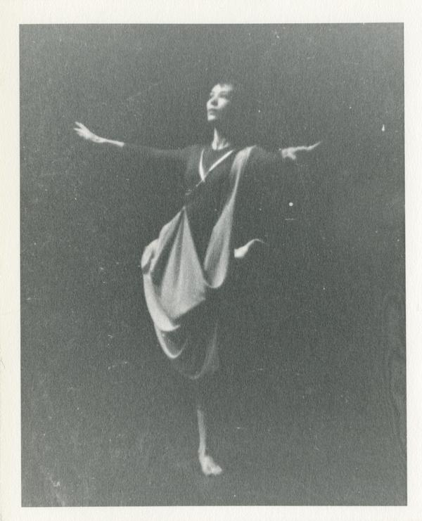 Dancer in a theatrical performance