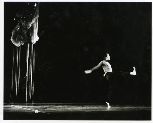 """Dancer performing """"Metamorphoses,"""" ca. 1960's"""