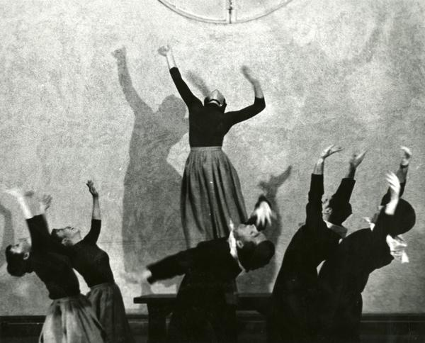 """Dancers in """"The Shakers,"""" March 1960"""