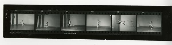 Contact sheet of dancers, ca. 1960's