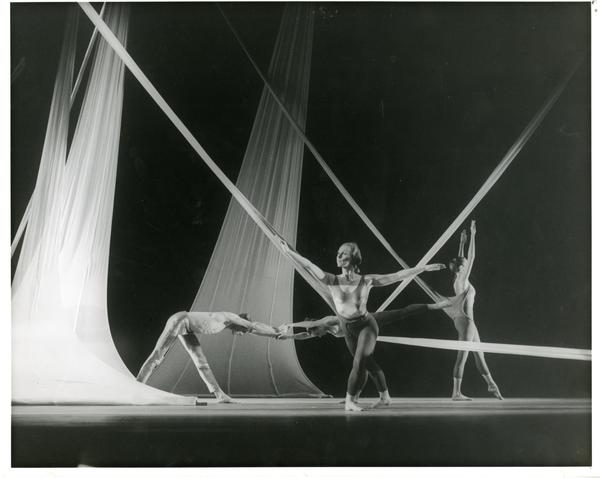 Dancers performing in a theatrical production, 1960