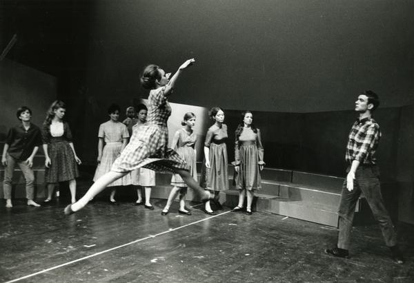 """Dancers performing """"The Lottery,"""" ca. 1960's"""