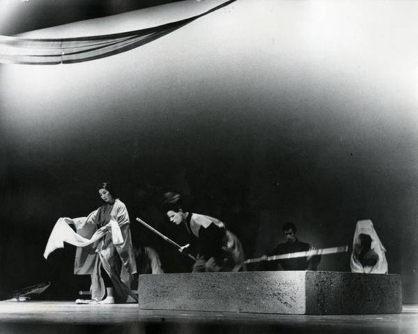 Dancers performing in a theatrical production, ca. 1960's