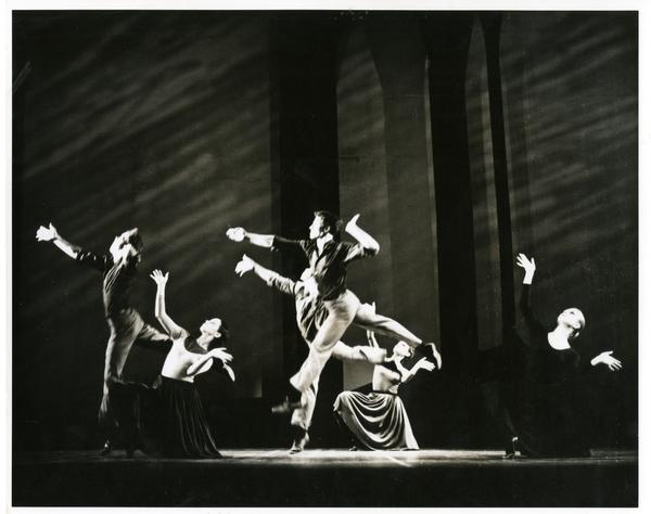 Dancers performing Missa Brevis, March 1970