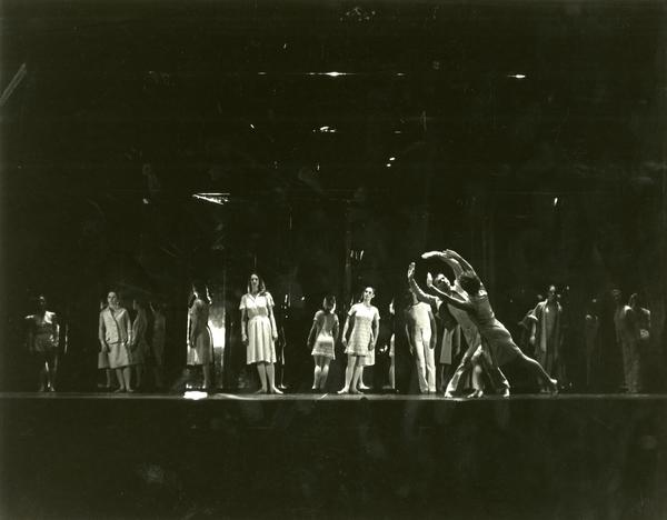 """Members of the UCLA Dance Company performing """"Mirror, Mirror,"""" 1984"""