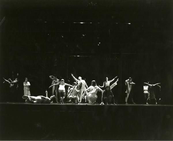 "Members of the UCLA Dance Company performing ""Mirror, Mirror,"" 1984"