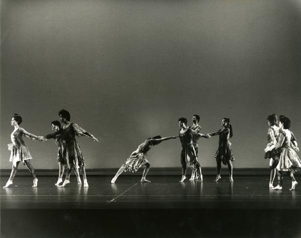 Members of the UCLA Dance Company in a performance, 1984